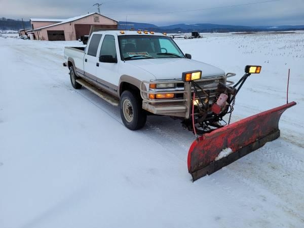 Photo 1997 Chevy 3500 4x4 with snow plow - $4,950 (Avoca)