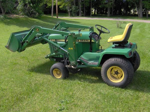 Photo 2 John Deere 430 Diesel Garden Tractors  Attachments (Scottsville)