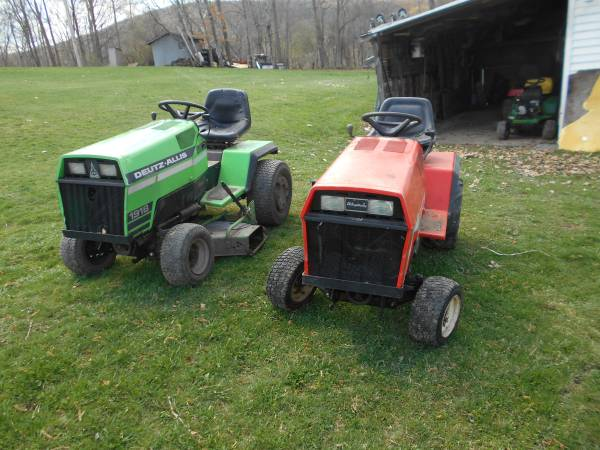 Photo 2 simplicity sunstar garden tractors - $1,100 (corning)