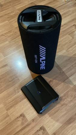 Photo Alpine subwoofer, lifier, coax speakers Car audio  stereo system - $125 (Corning)