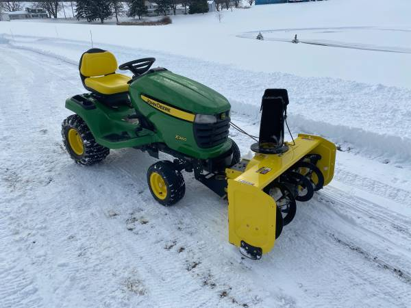 Photo JOHN DEERE X 360 48 inch cut with Snowblower - $3,600 (or BO Naples)