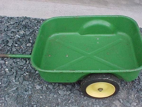 Photo John Deere pedal cart, trailer - $50 (Seneca Falls, NY)