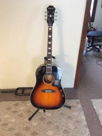 Photo John Lennon Epiphone Acoustic Electric Guitar - $400 (Big Flats NY)