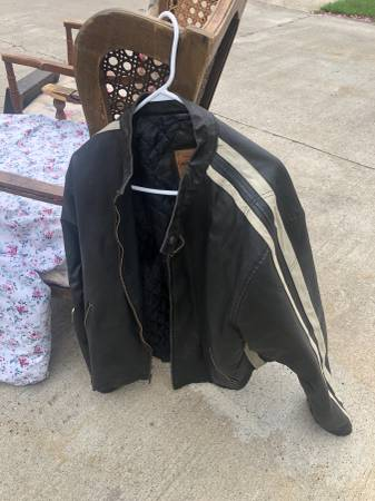 Photo Leather biker jacket, 2XL - $50 (Painted Post, NY)