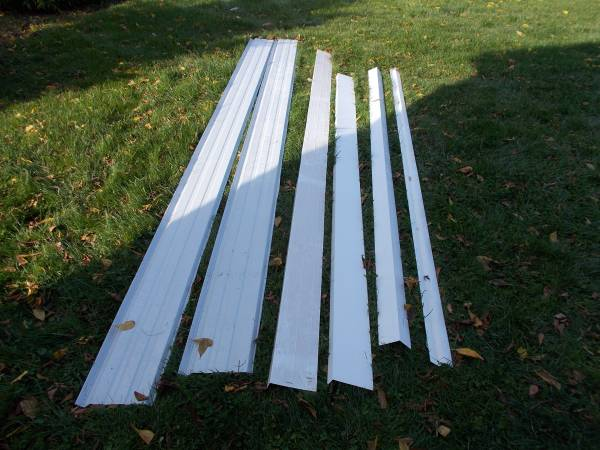 Photo Miscellaneous White Steel Trim Pieces - $30 (Burdett)
