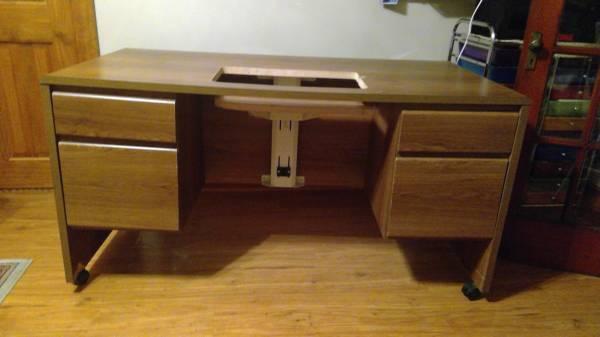 Photo Sewing Desk with lift - $125 (Corning, NY)