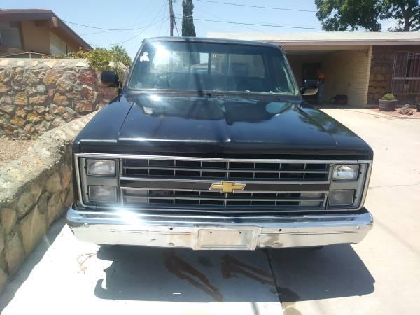 Photo 1984 CHEVY C10-SILVERADO TRUCK-SHORT BED-AUTO-POWER WINDOWS-RARE V6 - $5,500 (EAST EL PASO)
