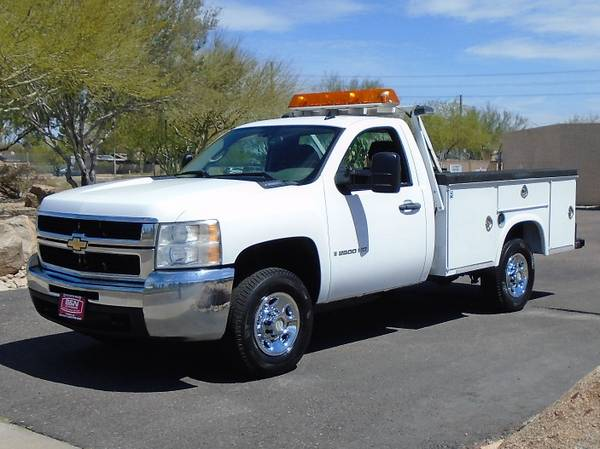 Photo 2008 CHEVY 2500 4X4 SERVICE BODY UTILITY BED WORK TRUCK LOW MILES - $11995 (Phoenix)