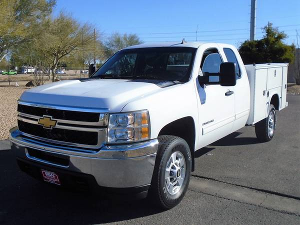Photo 2012 CHEVY SILVERADO 4X4 EXT CAB SERVICE BODY UTILITY BED WORK TRUCK - $12995 (Phoenix)