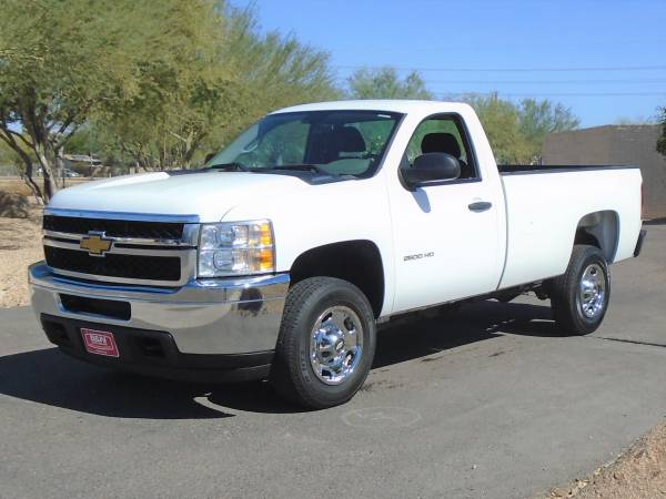 Photo 2014 CHEVY 2500 HD REG CAB LONG BED WORK TRUCK WITH LOW MILES 61K - $16,995 (Phoenix)