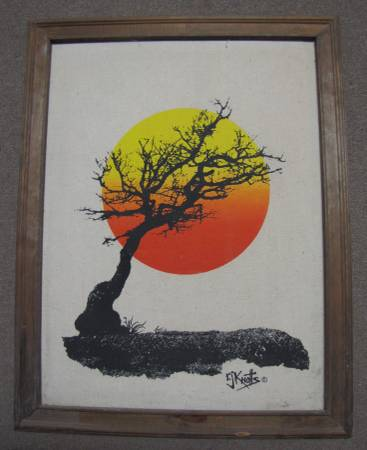Photo A 26 12quot X 20 34quot OIL PAINTING OF A TREE, SIGNED  FRAMED - $39 (Chaparral)