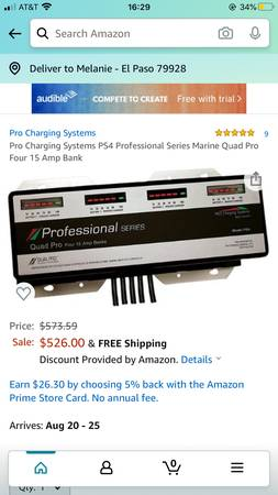 Photo Dual Pro Professional Series 4-Bank On-Board Charger - $400