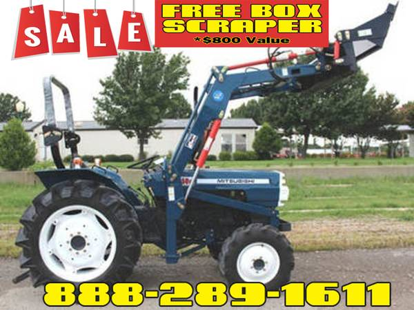 Photo Mitsubishi D3850 Tractor FREE Box Scraper Included - $800 Value (Call Us About Our Lay-A-Way Program Today)