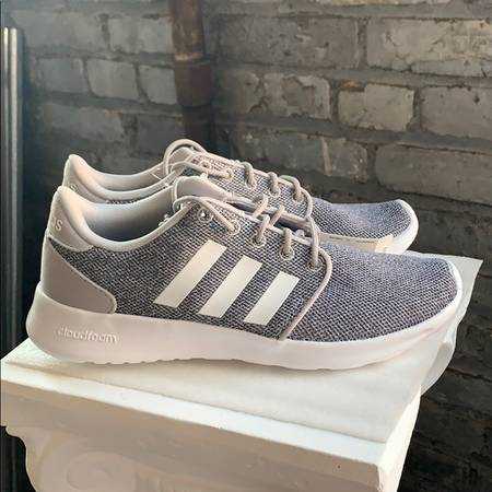 Photo NWT And Box Womens Adidas QT Racer Gray and White - $30 (Eastside)