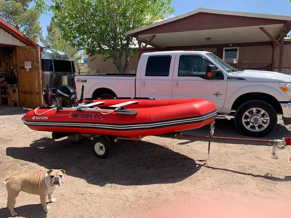Photo Saturn Inflatable Boat 9.9 hp Mercury Outboard - $2,500 (Elephant Butte)