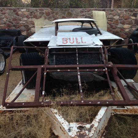 Photo Vintage dirt track race car with trailer. - $4,500 (Upper valley)
