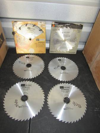 Photo 6 Saw Blades Craftsman Black  Decker 8quot Kromedge - $20 (Enid)