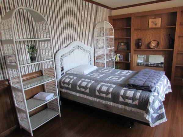Photo 8 Piece White Wicker Bedroom Set - $325 (Edmond, OK)
