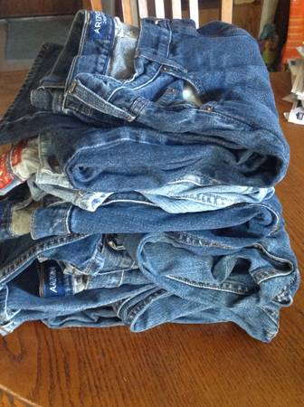Photo Mens jeans straight leg zipper Size 36w 30l - $10 (Tulsa)