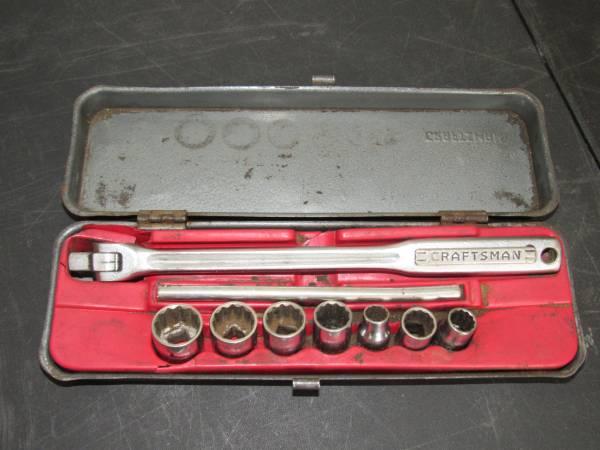 Photo Vintage USA Sears Craftsman V Series 38quot Breaker Bar 12PT Socket Set - $35 (Enid)