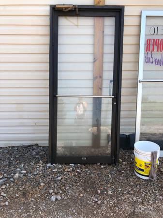 Photo commercial glass double doors and one single bronze glass door - $900 (Oklahoma City)