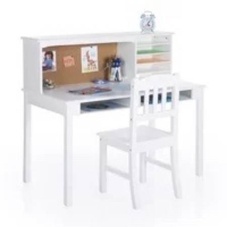 Photo white desk - $100 (Woodward)