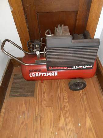 Photo 15 gallon craftsman air compressor 150.00 firm - $150 (Erie an surrounding)