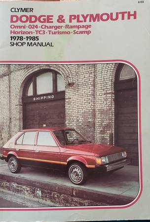 Photo Clymer Dodge and Plymouth shop manual 1978-1985 - $5 (Albion)