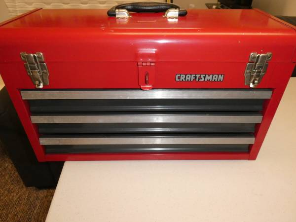 Photo Craftsman 3 Drawer Lockable Tool Box - $40 (ERIE)