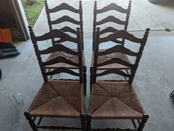 Photo Ethan Allen Vintage Maple Chairs set of 4 $125 OBO - $125 (Lake City)
