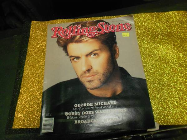 Photo ROLLING STONE Magazine January 28 1988 George Michael John Cougar Mell - $10 (NIAGARA FALLS)