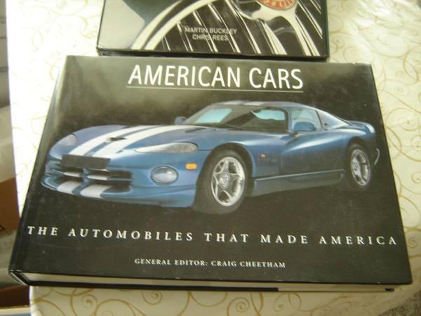 Photo AMERICAN CARS. 3 oversize books AS NEW. 3$30. - $15 (Niagara FallsGrand Islandship to you)