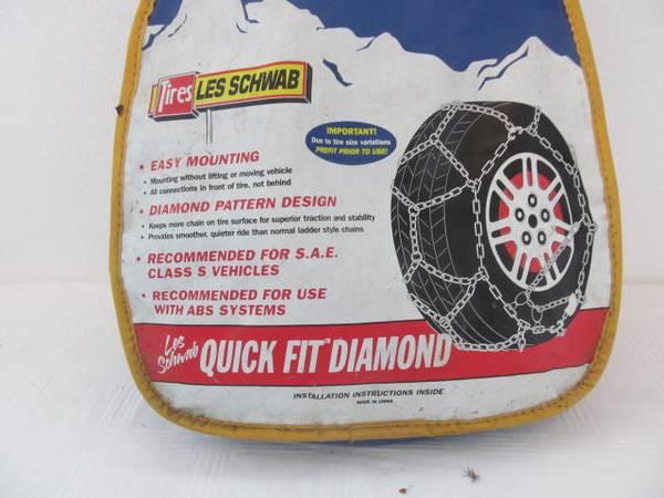 Photo 1535-s tire chains Les SchwabAlpine Premeir 14quot15quot17quot - $35 (river road)