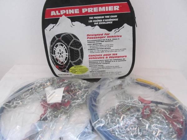 Photo 1540-s Les SchwabAlpine Premier tire chains, 14, 15, 16. - $40 (river road)