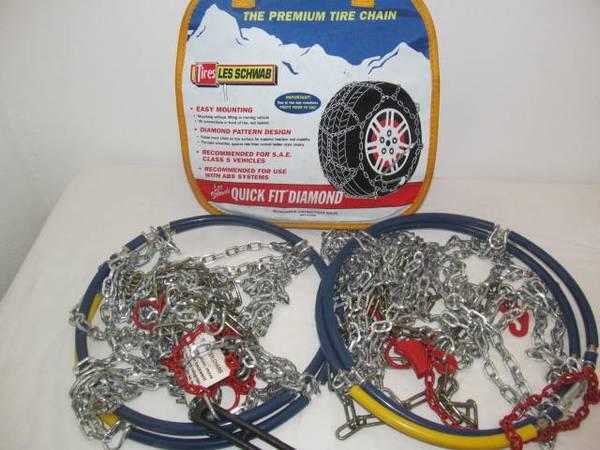 Photo 1545-s tire chains LesSchwabAlpine Premeir, 14quot15quot16quot - $40 (river road)