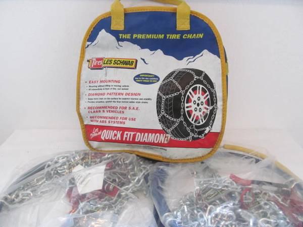 Photo 1555 tire chains Alpine PremierLes Schwab, 15quot16quot - $40 (river road)