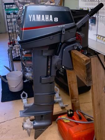Photo 1996 8hp Yamaha 2 stroke Kicker Motor - $800 (Eugene)