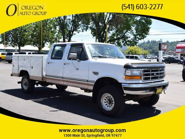 Photo 1997 Ford F350 4x4 4WD CREW CAB 7.3L POWERSTROKE DIESEL SERVICE TRUCK - $10,999 (541-603-CARS(2277) - 1300 Main St Springfield, OR 97477)