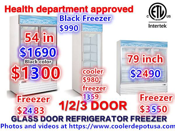 Photo 1NSF One  Two  Three-door Glass Freezer (Restaurant Equipment) - $1,359 (100 new)