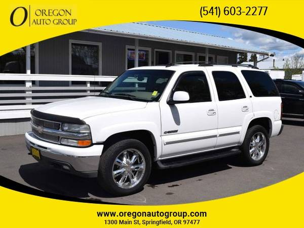 Photo 2003 Chevrolet Tahoe LT 4x4 4WD Chevy SUV LTHR ROOF 3RD ROW SEAT MORE - $6,426 (541-603-CARS(2277) - 1300 Main St Springfield, OR 97477)