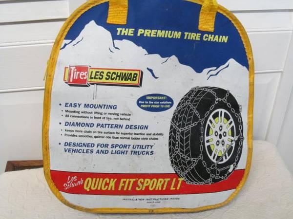 Photo 2321 Tire chains, New, Les SchwabAlpine sport, 15quot 16quot - $50 (River Road)