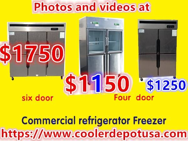 Photo 4-door Glass-door Refrigerator  Stainless Steel Freezer Combination - $1,050 (100 new)