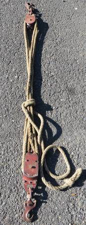 Photo Durbin-Duroc Block and Tackle Cast Iron and Steel - $65 (Eugene)