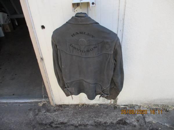 Photo Harley Davidson Mens Med Leather Billings Jacket Very Gently Used - $225 (Eugene)