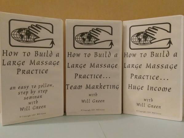 Photo How to Build a Large Massage Practice VHS set (Springfield  West Centennial)