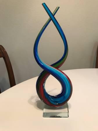 Photo Murano Italian Glass Scupture - $65 (Eugene)