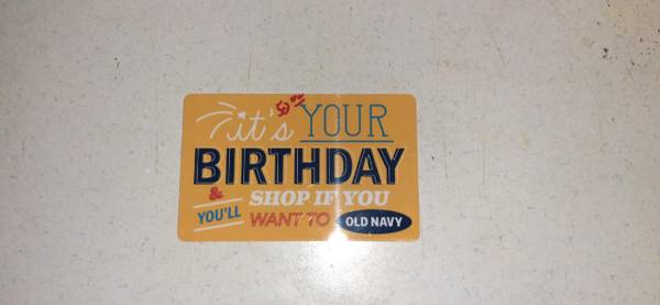 Photo Never Used Brand New Old Navy Gift Card - $50 (Junction City)