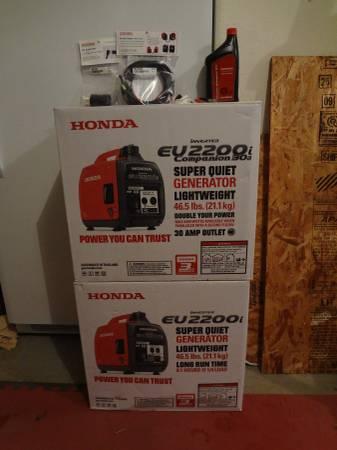 Photo ((New)) Two Honda EU2200i Generator - $1970 (Salem)