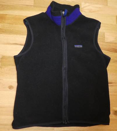 Photo Patagonia Cycling Fleece Vest Windproof P.E.F. front laminate MED, USA - $35 (South Eugene)