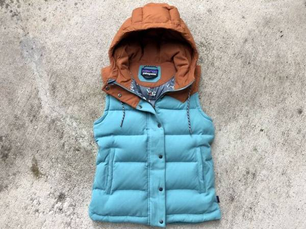 Photo Patagonia Women39s BIVY Hooded Duck Down Vest Jacket - $140 (Eugene)